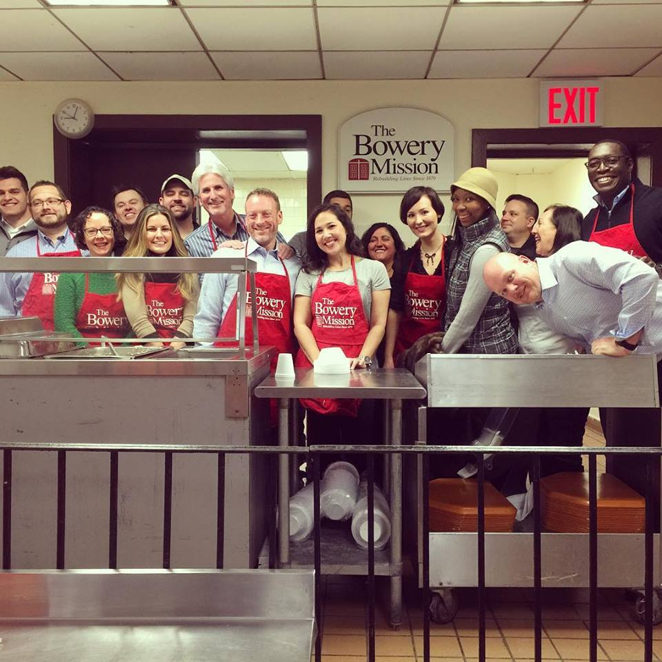 Proof that successful agents love to give: Inman ambassadors organized a morning service project at the Bowery Mission. (That's me in the green sweater, front row.)