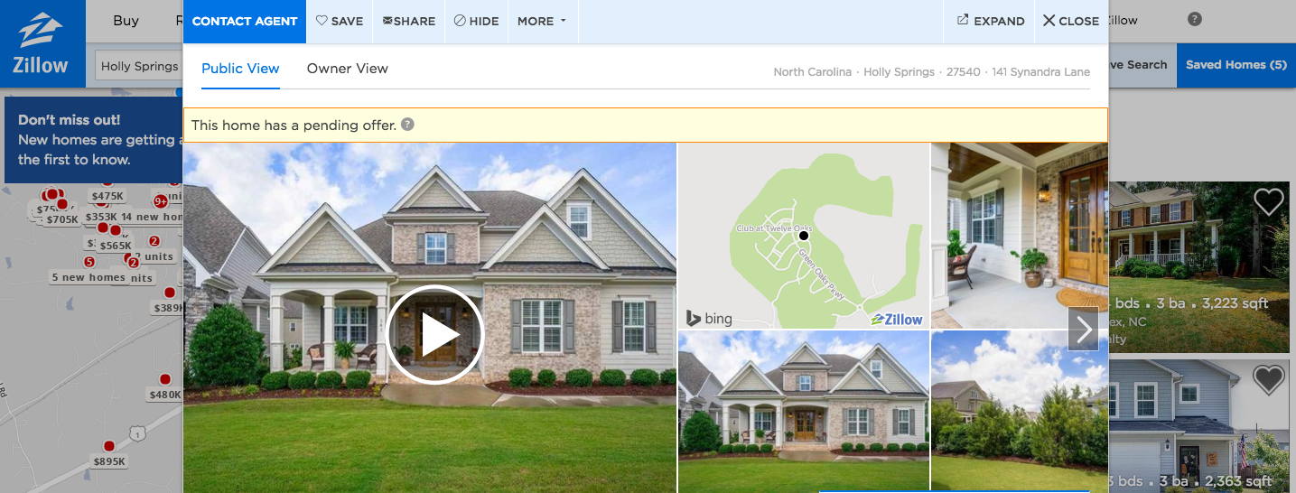 HouseLens Partners With Zillow to Embed Walkthrough Videos with Zillow Listings