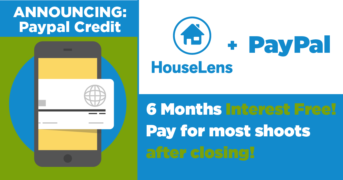 PayPal Credit Now Available for HouseLens Shoots