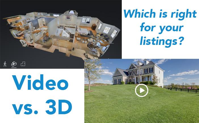 video vs 3d models